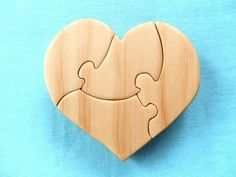 Wooden Jigsaw Puzzle Heart - by rawtoys on madeit