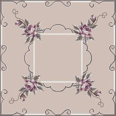 Cross Stitch Rose, Cross Stitch Flowers, Cross Stitch Patterns, Table Toppers, Sewing Techniques, Needlepoint, Red Roses, Sewing Crafts, Ideas