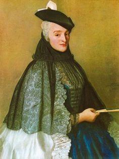 """Mrs. Boere"", c. 1746, by Jean-Étienne Liotard (Swiss, 1702-1789)."