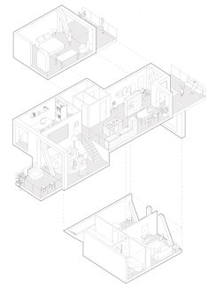 Siedlung Holliger – SPACE ENCOUNTERS Architecture Drawing Plan, Architecture Collage, Architecture Portfolio, Modern Architecture, Architecture Diagrams, Interior Design Boards, Plan Drawing, Concept Diagram, Architectural Presentation