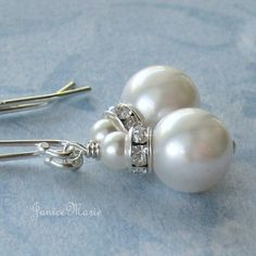 earrings idea for bridesmaids, from JaniceMarie on Etsy