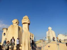Terrace of famous La Pedrera