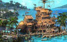 pirate_ship_village-1565176.jpg 1.920×1.200 pixels