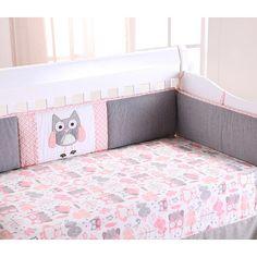 "Levtex Baby Night Owl 4 Piece Crib Bumper Set - Pink - Levtex Baby - Babies ""R"" Us"