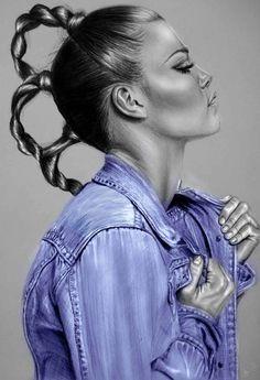 Fashion illustrations by Sandra Jawad http://www.creativeboysclub.com/art-now-sandra-jawad-portrait-fashion-illustrations