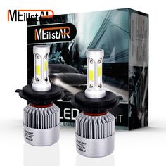 Click Image to Buy.  Car light COB Chip H4 H13 9004 9007 Hi-lo Beam H7 9005 HB3 9006 HB4 H11 H9 H1 H3 9012 Auto LED Headlight Bulb 8000lm 12V 6500k * Details on this piece can be viewed on  AliExpress.com. Just click the image