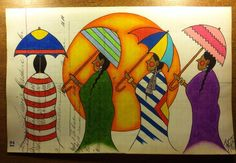Pepion Ledger Art. His beautiful work is available to see on facebook. Check out this talented artist :) Umbrella Painting, Umbrella Art, Good Day Sunshine, Notebook Art, Brollies, Parasols, Native American Artists, Indian Artist, African American Art