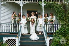 green bridesmaid dresses - studio lb - fall spearfish wedding