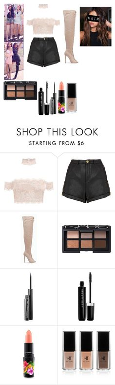 """""""Glory Days photoshoot """" by officialarianagrandebutera ❤ liked on Polyvore featuring Topshop, NARS Cosmetics, MAC Cosmetics, Marc Jacobs and e.l.f."""