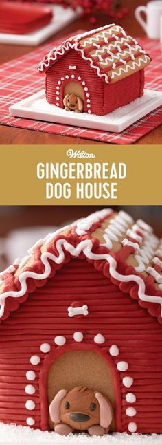 Decorate this gingerbread dog house to add some puppy love to your gingerbread scene! Includes icing, dog bone sprinkles, and a ready-made icing decoration dog. This kit is a fun activity to add to your holiday gingerbread house making.