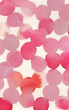 Pink dots, like confetti.