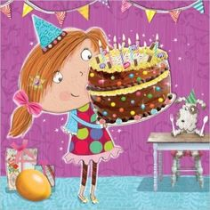 Carte postale 10 x 10 cm « Birthday Cake Small » - Clare Maddicott