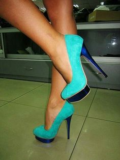 Not sure which i like better, the turquoise or colbalt blue heel....