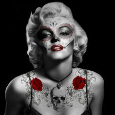 Day Of The Dead Marilyn-Monroe by angel1592.deviantart.com on @deviantART