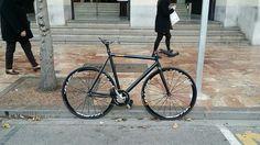 leader kagero w mavic ellipse. fixie fixed track bike fixed gear rotor  shimano thomson