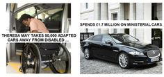Tories take 50,000 specially adapted cars away from disabled – spend millions on ministerial cars   Pride's Purge      Theresa May's Tory governmentis taking away900 specially adapted cars a week from disabled people. These cars enable people with disablities – who are in wheelchairs, are blind, or who…