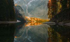 Autumn in Braies Lake South Tyrol [1750x1050] via reddit.