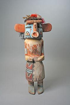 Katsina (Kuwan Heheya) - Hopi culture, Arizona, 20th century - Wood, paint and feathers (43,2 cm)