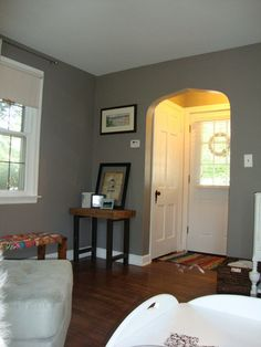 possible paint color for living room: dovetail gray by sherwin williams