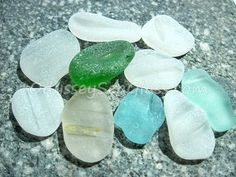 Sea Glass for Sale ~ 10 Large Unusual and interesting shapes and colors -  Beach glass pieces for your jewelry or craft PS2038 by OdysseySeaGlass on Etsy