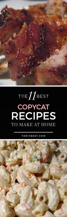 The 11 Best Copycat Recipes - Everyone loves a good copycat recipe from their favorite restaurants Crockpot Recipes, Great Recipes, Cooking Recipes, Favorite Recipes, Healthy Recipes, Comida Boricua, Copykat Recipes, Chilis Copycat Recipes, Famous Recipe
