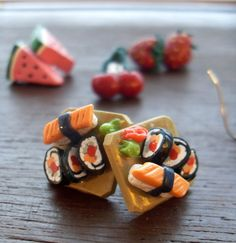 Foods & Fruits Earrings via Etsy