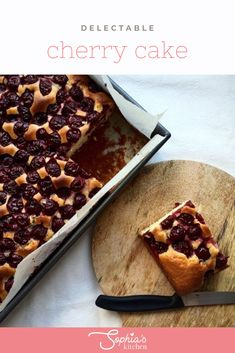 Fancy a delicious treat for the whole family but do not have much time to prepare it? This cherry cake is super quick and wonderfully juicy and fluffy. Chocolate Custard, Chocolate Recipes, Yummy Treats, Sweet Treats, Yummy Food, Sweet Recipes, Snack Recipes, Snacks, Sticky Date Pudding