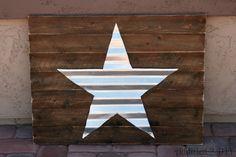 Corrugated Metal Star Art {Patriotic Summer Blog Hop and Giveaway