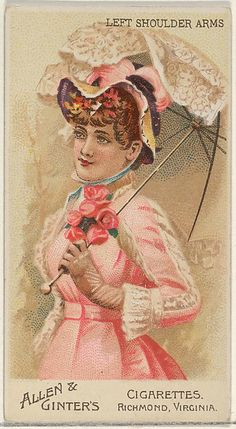 Allen & Ginter | Left Shoulder Arms, from the Parasol Drills series (N18) for Allen & Ginter Cigarettes Brands | The Met