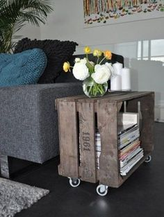 Decor, Home Diy, Wood Diy, Crate Coffee Table, Wooden Crates Projects, Diy Furniture, Diy Bookends, Diy Home Decor, Home Decor