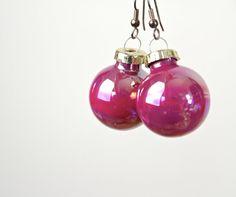 Mercury Glass Ornament Earrings