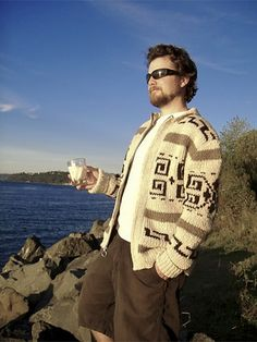 The Dude, sweater pattern.  Maybe some day for hubby. . .