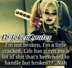 Never broken.. just a little cracked on the inside maybe..