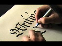▶ Calligraphy Pages Pt. 1/4 Luca Barcellona   Francesca Biasetton - 2008 - Two calligraphers, two styles, using the inexpensive Parallel Pen.