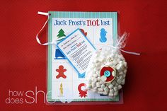 Jack Frost's Not Lost game (like Don't Eat Pete)...perfect gift for friends with children! #giftidea #howdoesshe #neigborgift