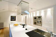 Home Design and Interior Design Gallery of Amazing Duplex Apartment With Luxury Minimalist Kitchen Island
