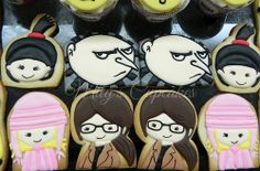 Despicable me / mi villano favorito cookies Gru, Margo, Edith y Agnes