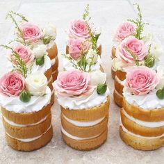 "Mini Naked Cake lindos | ❥""Hobby&Decor"" 