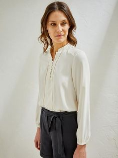 Cyrillus Damenbluse in ecru City Chic, Dressing, Ruffle Blouse, Long Sleeve, Sleeves, Tops, Women, French, Google