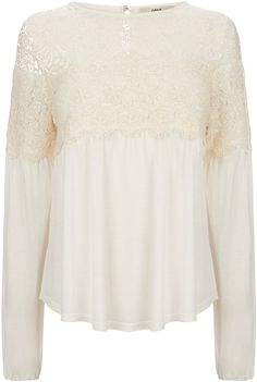 Womens cream top from Oasis - £36 at ClothingByColour.com