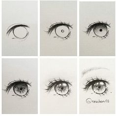 Eye drawing steps By @koiichan02 . .