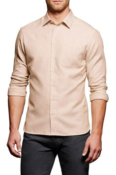 Twill Long Sleeve Modern Fit Shirt