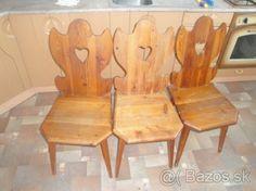 3 drevene stolicky + dreveny drziak na keramiku - 14 Malacky