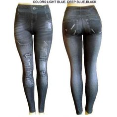 """Ladies Capri """"Jeggings""""/ Deep Blue -L/Xl by WMU. $28.14. All of the products showcased throughout are 100% Original Brand Names.. We proudly offer free shipping. We can only ship to the continental United States.. Please refer to the title for the exact description of the item.. 100% Satisfaction Guaranteed.. High quality items at low prices to our valued customers.. Ladies Capri """"Jeggings""""/ Deep Blue -L/XL Material: 85% Polyester, 15% Spandex Jean like rectangular faded c..."""