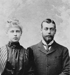 Princess Marie of Edinburgh (later Queen Marie of Romania) and Prince George of Wales (George V): 1890s.