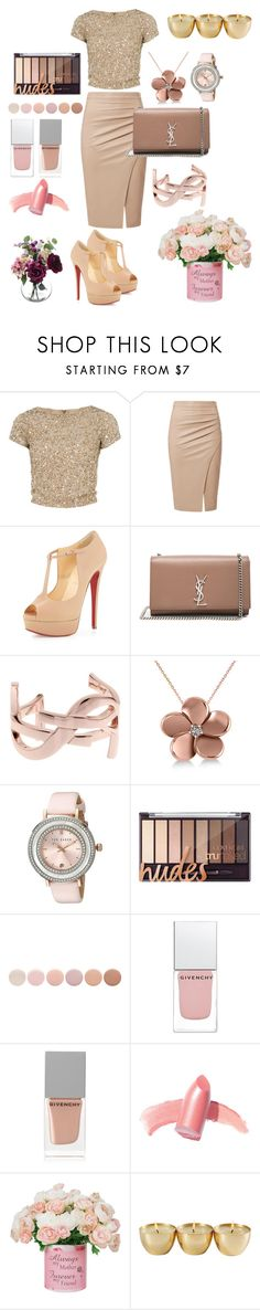 """""""#28"""" by keiti-step ❤ liked on Polyvore featuring Alice + Olivia, Christian Louboutin, Yves Saint Laurent, Allurez, Ted Baker, Deborah Lippmann, Givenchy and Elizabeth Arden"""