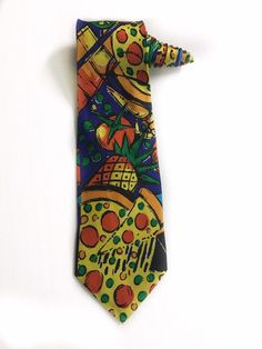 Excited to share this item from my shop: Pizza Hut Employee Manager Pizza Vintage Novelty Tie Necktie Novelty Ties, Tie Quilt, Tie Pattern, Mens Silk Ties, Pizza Hut, Wedding Ties, Vintage Cartoon, Hats For Men, Baked Chicken
