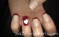 simple easy valentines day nail art