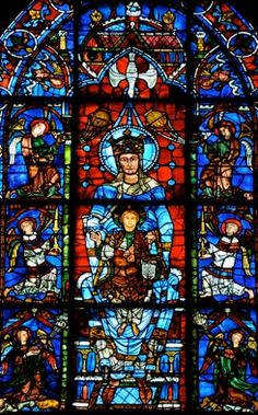 Famous Our Lady Window, Chartres Cathedral