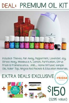 Get Healthy Naturally!!  Discover all the amazing Benefits of Essential Oils!!  Great deal on this starter kit!